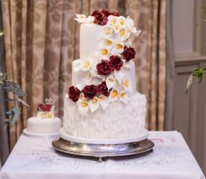 Rose & Lilly Wedding Cake