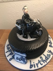 Motor Bike Birthday Cake