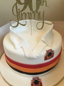 90th Birthday Cake Rugby Birthday Cake
